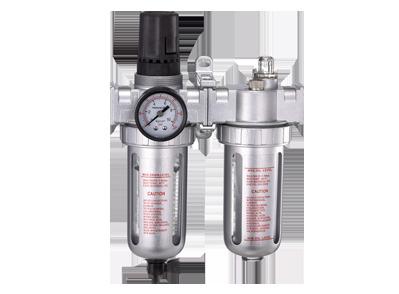 Блок подготовки воздуха (фильтр + регулятор + маслодобавитель. Авт.слив) 3/8' Пропускная способность 2500 л/мин
