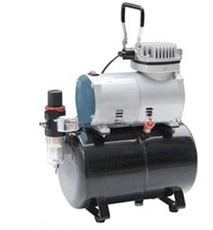 Миникомпрессор безмасляный (ресивер 3л, производительность 23л/мин, рабочее давление 3-4bar)