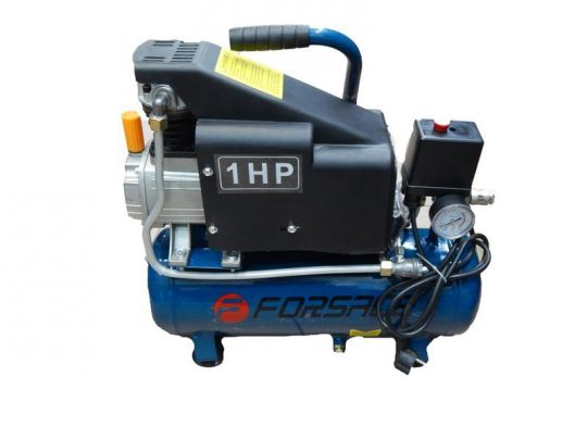 Компрессор   9л поршневой с прямым приводом (0,75 кВт,ресивер 9л,8 бар,220В)