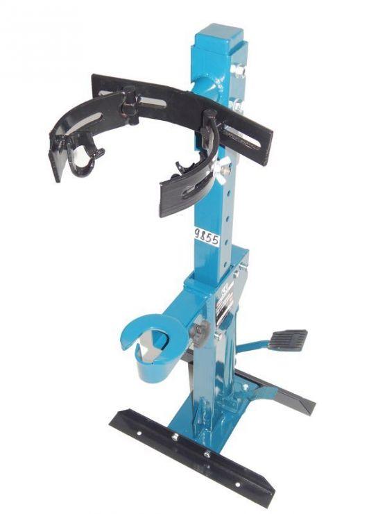 Съемник пружин гидравлический напольный (усилие стяжки до 1т рабочий диапазон 210-570мм)