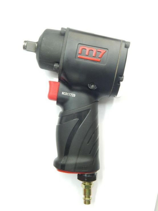 1/2' Пневмогайковерт 610Нм с комплектом глубоких головок  17, 19, 21мм+ пистолет обдувочный  (потребление 124 л/мин.)