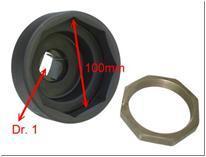 Съемник задних ступичных гаек SCANIA (1', 8-гран., 100мм)