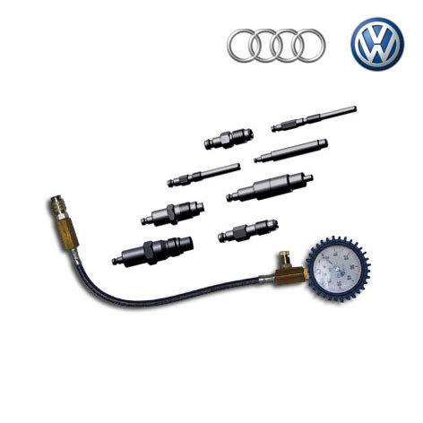 SMC-VAG (AUDI, VW), Специальный компрессометр для дизельных двигателей автомобилей семейства VAG (AUDI, VW).  Применяется для двигателей а/м Audi, VW (CadY, Transporter), форсунок Germany 028130201T, 2FH KBEL 58P 144 190 bar 862F. Автомобилей Audi серии X