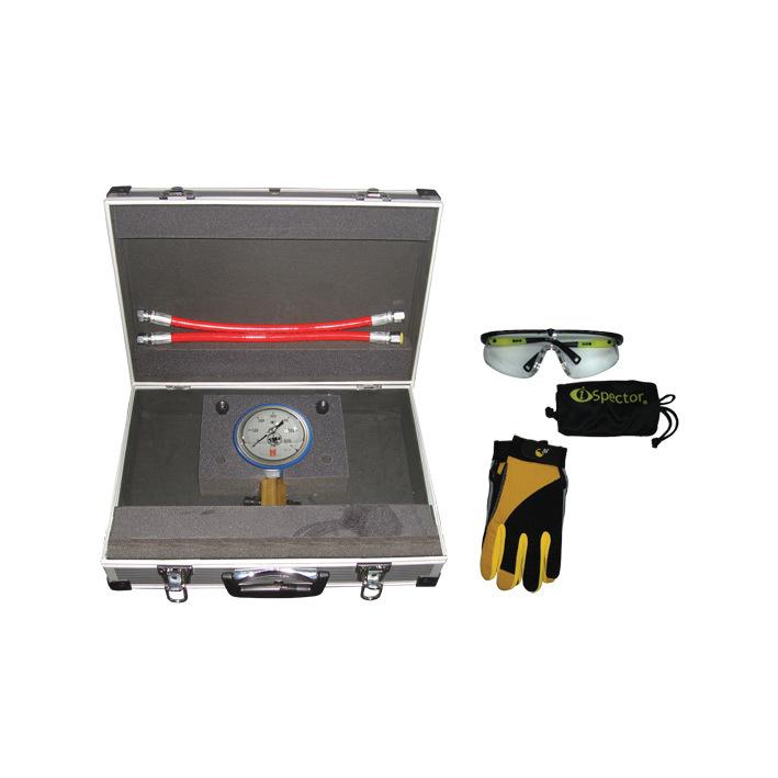 SMC-1005/400GПредназначен для проверки клапанов на герметичность в штуцерах напорной магистрали ТНВД с максимально развиваемым давлением 400 Bar. Оснащен высококачественным манометром, диаметром 100  мм в защитном кожухе с гелевым наполнителем. Корпус ман