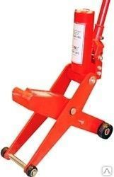 Домкрат подкатной ножничный с двумя уровнями подхвата, 4/5т (уровень подхвата 70/415мм, h max 435/735мм)