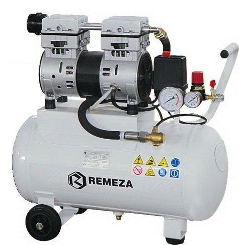 компрессор безмасляный поршневой 105 л/мин, 8 бар, 0.75 кВт. 220 В, ресивер 24 л.