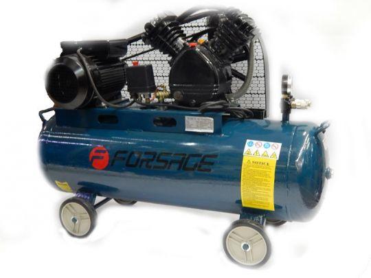 Компрессор 100 л 2-х поршневой с ременным приводом  (2.2кВт, ресивер 100л, 250л/м, 220В)
