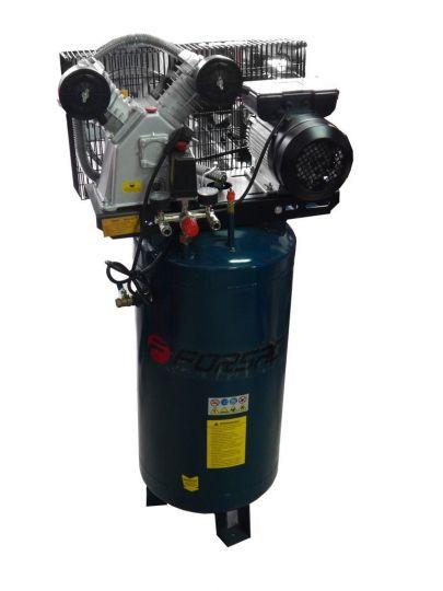 Компрессор 100 л 2-х поршневой с ременным приводом вертикальный (2.2кВт, ресивер 100л, 250л/м, 220В)