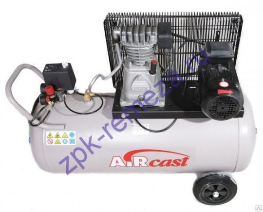 компрессор поршневой 280 л/мин, 10 бар, 2.2 кВт. 380 В, ресивер 100 л.