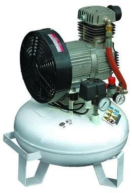 компрессор безмасляный медицинский поршневой 150 л/мин, 8 бар, 1.1 кВт. 220 В, ресивер 24 л.