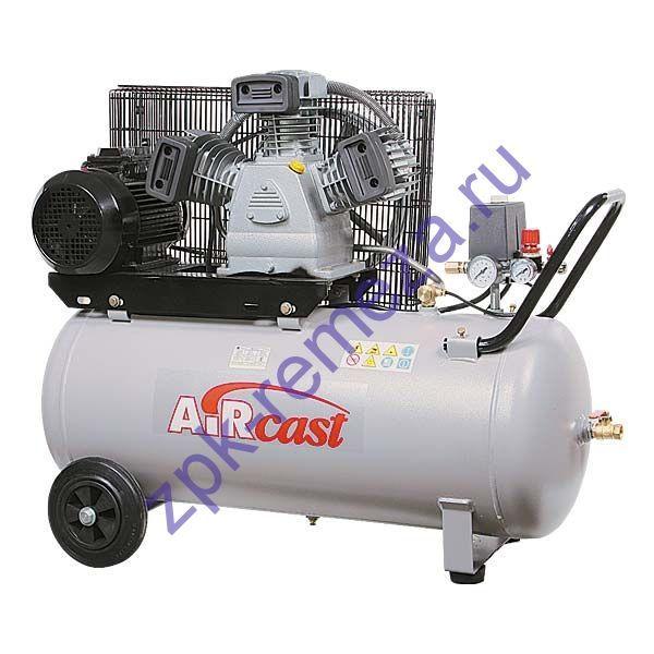 компрессор поршневой 580 л/мин, 10 бар, 3 кВт. 380 В, ресивер 100 л.