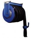 Катушка со шлангом для удаления выхлопных газов (шланг 8,0м. х Ø102 мм)   Механическая пружина возврата шланга. Комплект поставки: шланг из термостойкого армированного эластомера (TPE)., резиновое газоприемное сопло с рукояткой, стопор, салазки для крепле