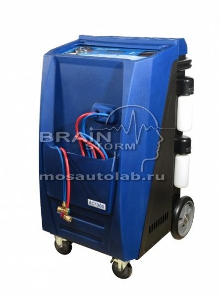 Установка для заправки автокондиционеров GrunBaum AC7000, автоматическая, R134, с принтером