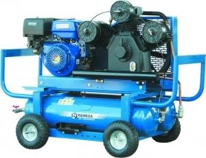 компрессор поршневой передвижной 980 л/мин, 8 бар, рес. 90 л., с бенз.приводом, ручной старт