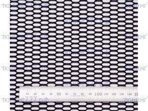Сетка в бампер, Сота, алюминий Черный, 100 х 40см