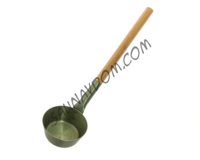 RENTO Алюминиевый черпак с бамбуковой ручкой для сауны, хвоя