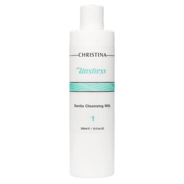 Нежное очищающее молочко для лица Unstress Christina (Анстресс Кристина) 300 мл