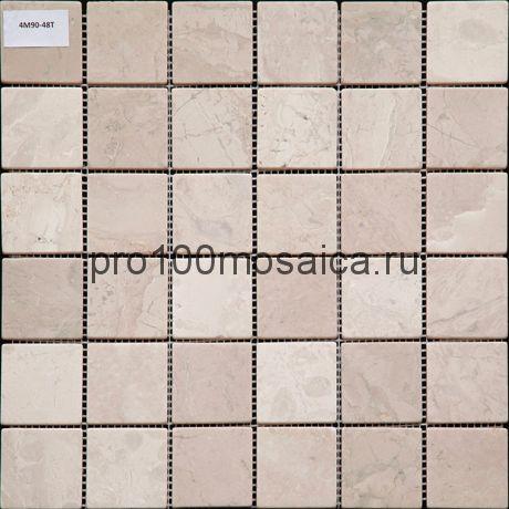 4M90-48T Мозаика Травертин 48*48 I-Тilе 300*300*4 мм (NATURAL)