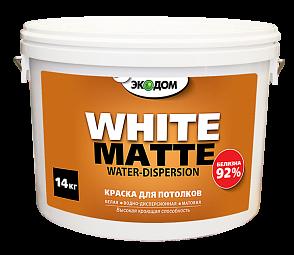 ЭКОДОМ Водоэмульсионная белая краска для потолков