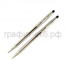 Набор CROSS Сentury Classic Ручка шариковая + карандаш Lustrous Chrome