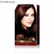Стойкая краска для волос «Цвет-Эксперт».  Медно-каштановый махагон. 4.54