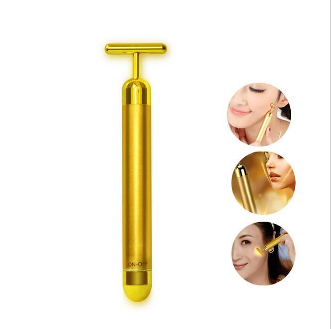 Массажер для лица от морщин с золотым напылением Energy Beauty Bar