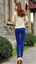 Летние брюки женские леггинсы стрейтч Синие
