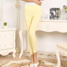 Летние брюки женские леггинсы стрейтч Желтые