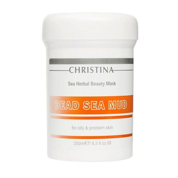 Маска красоты на основе морских трав для жирной и проблемной кожи лица Грязь Мертвого моря Christina (Кристина) 250 мл