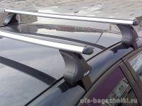 Багажник на крышу Ford Fiesta VI, Атлант, аэродинамические дуги, опора Е