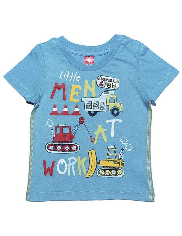Голубая футболка Мужская работа
