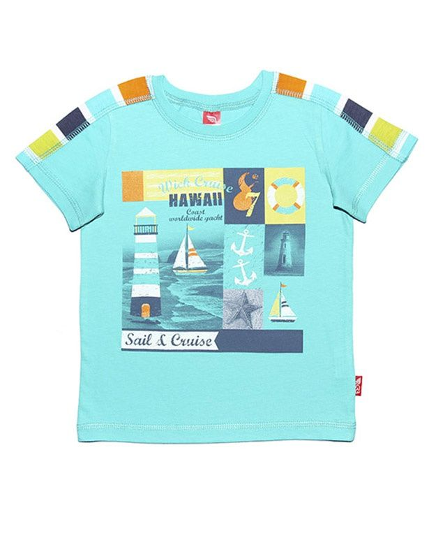 Бирюзовая футболка Круиз