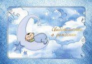 Папка 1/2 А5 Младенец Мальчик (о рождении)