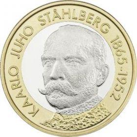 Каарло Юхо Стольберг - первый президент Финляндии  5 евро Финляндия 2016