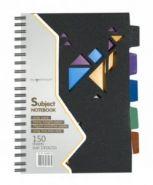 "Тетрадь 150л., линейка, 145х210мм, ""Black Concept"", 2 дизайна, обл. пластик, на гребне (арт. 810009-91)"