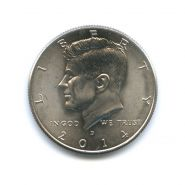США 50 центов Кеннеди (1/2 доллара half dollar Kennedy) 2014 UNC