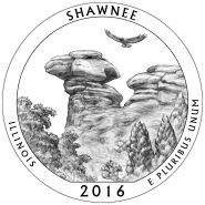 31-й парк 25 центов США 2016 г. - Национальный лес Шони (Shawnee) UNC