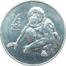 Северная Корея 1/2 чон 2002 г. Обезьяна