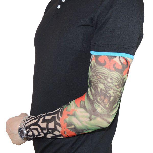 Тату рукав с тигром