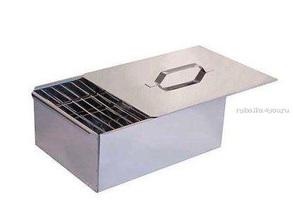Купить Коптильня двухъярусная с поддоном для сбора жира, нерж сталь 1,0 мм (Арт: 10-01-0029)