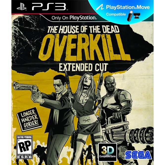 Игра The House of the Dead Overkill Extended Cut (PS3, PS Move)