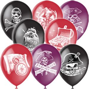 Пиратские Классические латексные шары с гелием