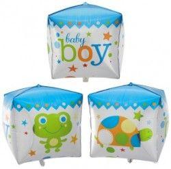 Куб для мальчика фольгированный шар с гелием