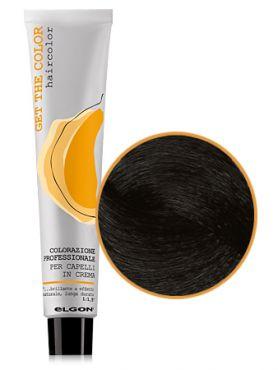Elgon GET THE COLOR Крем-краска 1.0 черный натуральный интенсивный