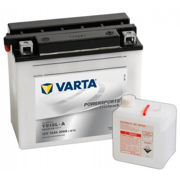 Мото аккумулятор АКБ VARTA (ВАРТА) FP 518 015 018 A514 YB18L-A 18Ач о.п.