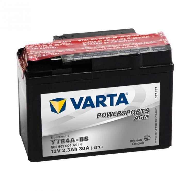 Мото аккумулятор АКБ VARTA (ВАРТА) AGM 503 903 004 A514 YTR4A-BS 2.3Ач о.п.