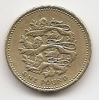 1 фунт Регулярный выпуск Великобритания 1997