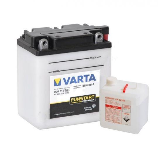 Мото аккумулятор АКБ VARTA (ВАРТА) FP 006 012 003 A514 6Вольт 6Ач о.п.