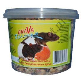 Полноценный корм для декоративных крыс Brava Премиум (0,65 л)