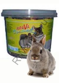 Корм Brava Премиум для кроликов полнорационный корм (0,65л)